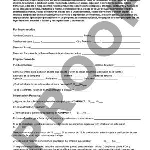 sf employment application spanish next level strategies